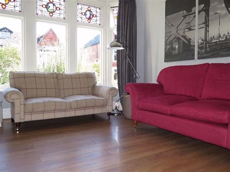 check fabric sofa laura ashley kingston 2 seater sofa in keynes burgundy