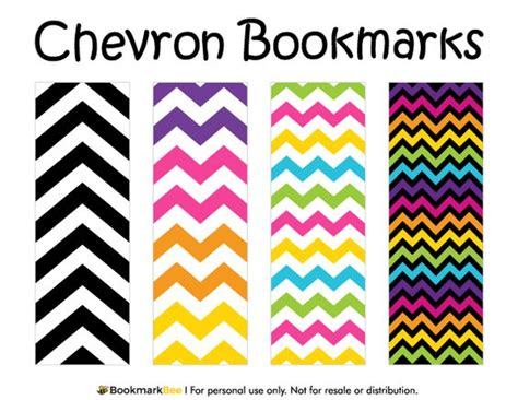 printable rainbow bookmarks free printable chevron bookmarks each bookmark has a