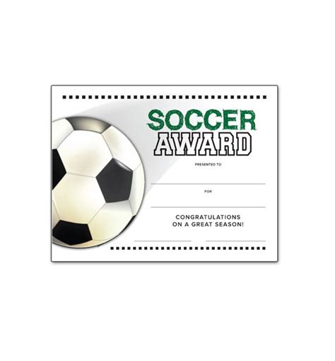 free printable soccer certificate templates soccer end of season award certificate free