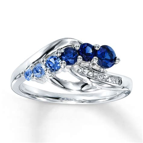 lab created blue sapphire engagement rings wedding and