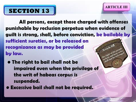 article 3 bill of rights section 16 explanation article iii sections11 16