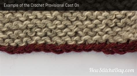 provisional cast on in knitting how to knit the crochet provisional cast on