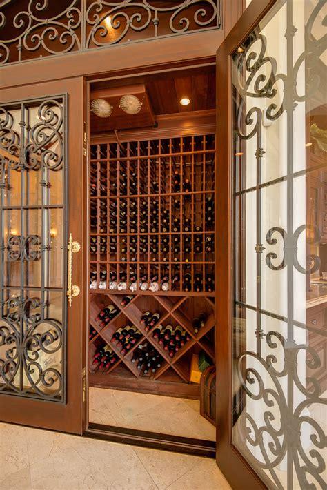 Wine room doors wine cellar traditional with tile floor
