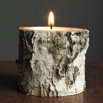 Handmade Candle Holders Ideas - make birchwood candle holders