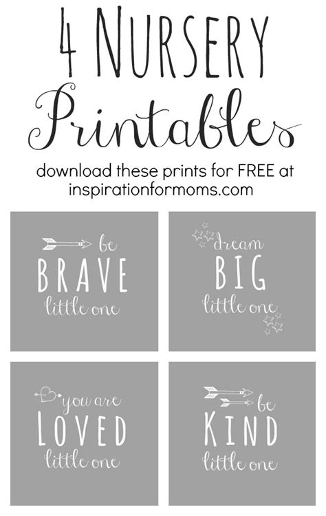 free printable nursery quotes free nursery art printables inspiration for moms