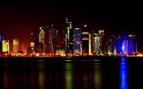Qatar Address Finder Doha Qatar Skyline Wallpapers Driverlayer Search Engine