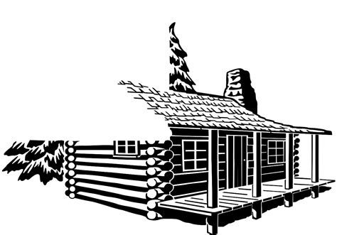 Cottage Silhouette by Cabin Clip Images Clipart Panda Free Clipart Images