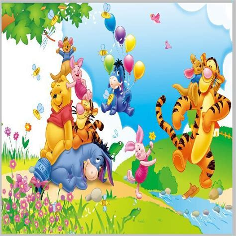Bantal Foto Custom Winnie The Pooh buy wholesale winnie the pooh backdrop from china