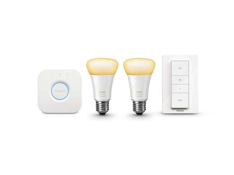 hue lights starter kit white ambiance starter kit e26 046677460983 philips