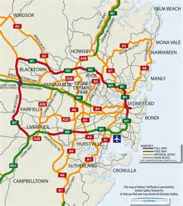 map of toll roads in sydney toll roads sydney visitor guide