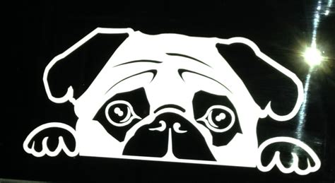 pug stickers the chester 2 0 pug window decal