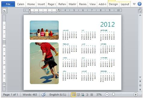 can you make a calendar in word how to easily create a family photo calendar in microsoft word