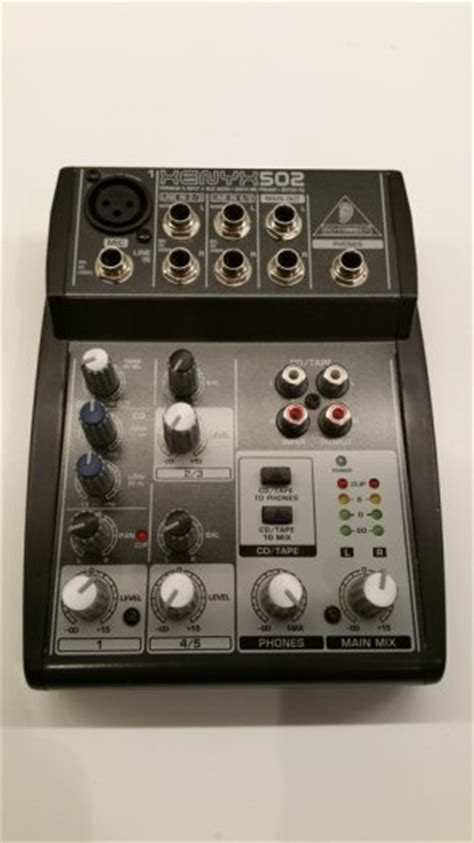 Mixer Xenyx 502 behringer xenyx 502 5 channel mixer for sale in coolock dublin from da can man
