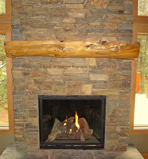 Gas Fireplace Mantle by Rustic Fireplace Log Mantel Log Fireplace Mantel Rustic