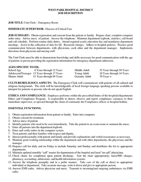 Sle Resignation Letter For Nurses by Emergency Room Sle Resume Writing Comparison Essay Exle Sle Er Resume