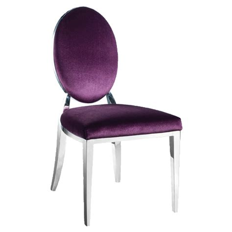 Modern Upholstered Dining Room Chairs by Trixy Purple Velvet Oval Back Dining Chair