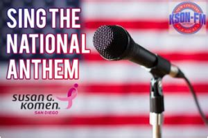 russell dickerson del mar susan g komen san diego kson national anthem contest to