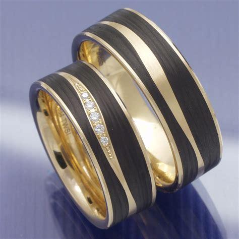 Hochzeitsringe Carbon by Eheringe Shop Trauringe Aus Carbon Apricotgold