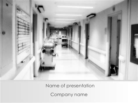 Hospital Corridor Presentation Template For Powerpoint And Keynote Ppt Star Hospital Presentation Templates