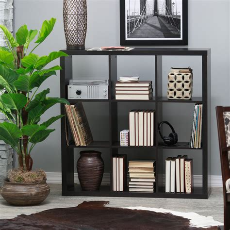 hudson 9 cube bookcase hudson 9 cube bookcase espresso bookcases at hayneedle