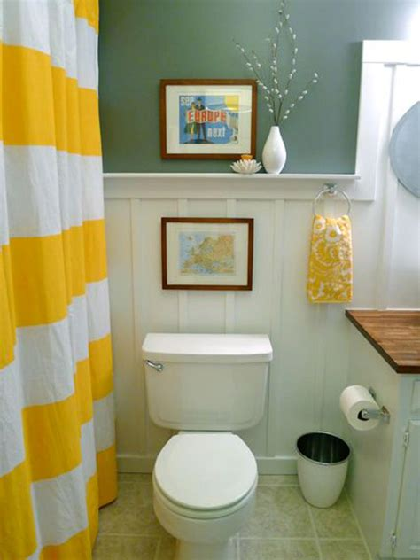 decorating ideas for bathrooms on a budget yellow bathroom decor ideas pictures tips from hgtv hgtv