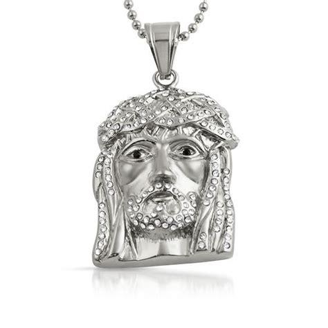 Bling Bling Jesus Pendant by Bling Bling Mini Jesus Pendant Stainless Steel Stainless