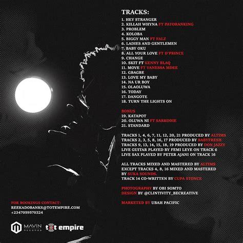 banks album nk reekado banks spotlight track album naijakit com