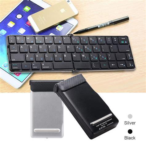 New Mini Foldable Wireless Bluetooth Keyboard Portable Easy Carry mini foldable wireless bluetooth keyboard portable forios