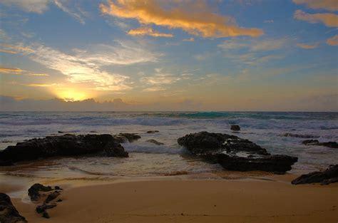 Hawaiian Shower Curtains Sandy Beach Sunrise 3 Oahu Hawaii Photograph By Brian Harig