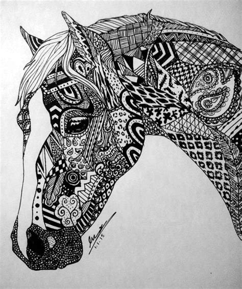 zentangle horse coloring page 40 absolutely beautiful zentangle patterns for many uses
