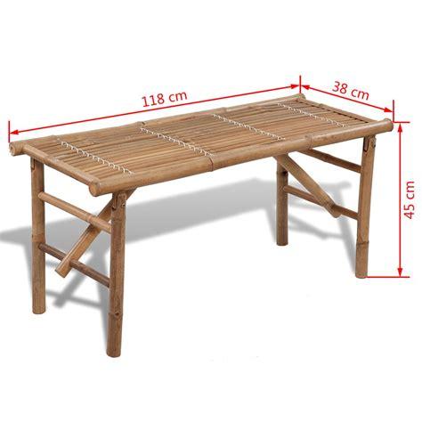 panchina pieghevole vidaxl panchina pieghevole in legno di bamb 249 vidaxl it