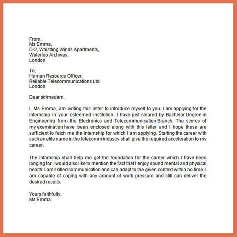 Introduction Letter For Vacancy letter of introduction for a bio exle