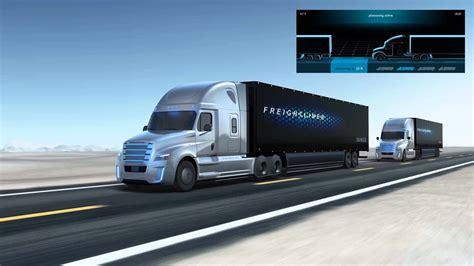 volvo trucks technology freightliner inspiration truck platooning technology