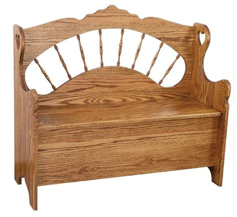 amish storage bench sunrise spindle storage bench from dutchcrafters amish