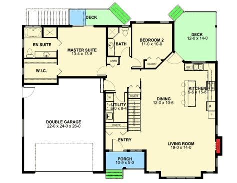 craftsman ranch home plan with finished basement 6791mg