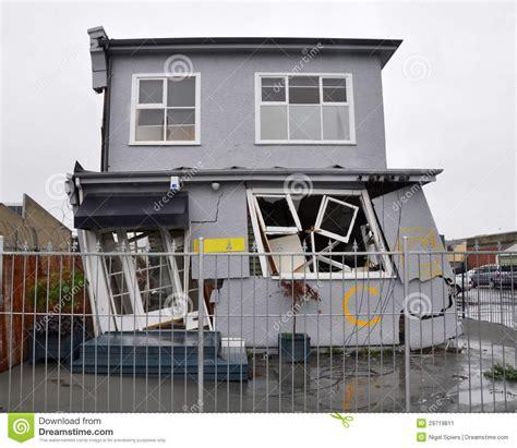 earthquake house house damaged by an earthquake stock image image 29719811