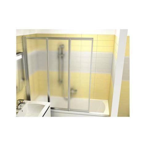 pare baignoire plastique pare baignoire 3 volets repliables plusdeplace fr