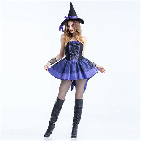 Pleated Costume purple costume pleated high low witch dress