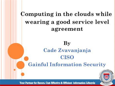 cloud service level agreement template cloud computing service level agreements