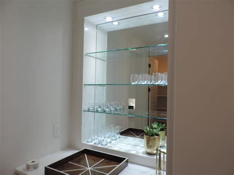custom shelving ideas modern glass shelves home design