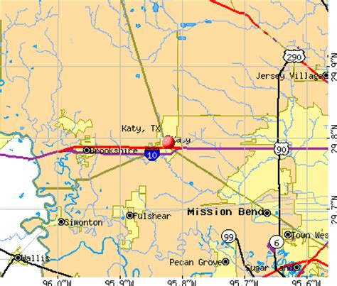 katy texas map katy texas