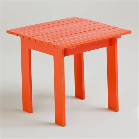 Orange Side Table Spicy Orange Classic Adirondack Side Table World Market