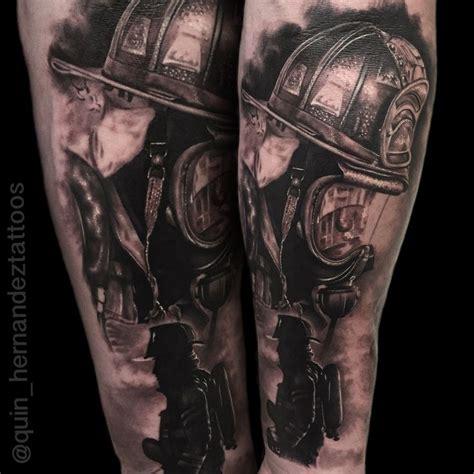 photo realism tattoo artist dallas fireman tattoo by joaquin hernandez dallas texas