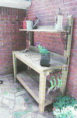 garden potting bench plans signature gardens potting in diy style