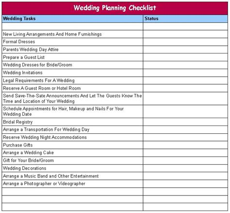 wedding coordinator checklist template wedding planner wedding checklist for wedding planner