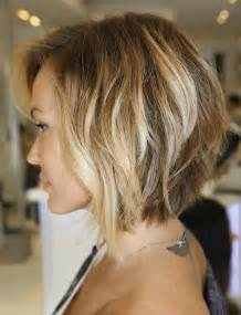 shoulder length haircuts longer in front and shorter in back stacked hairstyles that will adapt to any face and smile