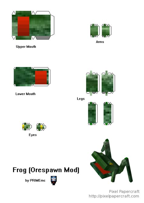Papercraft Frog - papercraft frog project orespawn