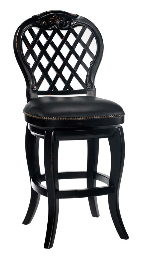 Black Nailhead Bar Stools by Black Honey Leather Nailhead Counter Height Swivel Barstool