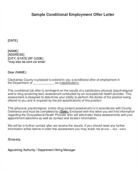 employment offer letter at will docoments ojazlink