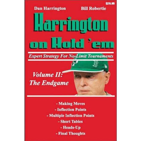 win holdem tournaments volume three master edition books harrington on hold em vol 2 expert strategy for no